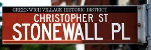 Urban Sign, Christopher Street and Stonewall Place, Greenwich Village, Manhattan, New York by Philippe Hugonnard