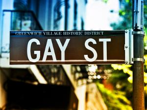 Urban Sign, Gay Street, Greenwich Village District, Manhattan, New York, USA, Colors Photography by Philippe Hugonnard