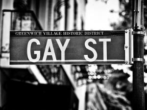 Urban Sign, Gay Street, Greenwich Village District, Manhattan, New York, USA by Philippe Hugonnard