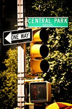 Urban Signs, Central Park, Manhattan, New York, United States, White Frame, Full Size Photography by Philippe Hugonnard