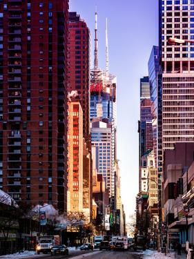 Urban Street View at Nighfall by Philippe Hugonnard