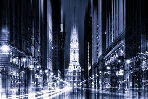 Urban Stretch Series - City Hall and Avenue of the Arts by Night - Philadelphia by Philippe Hugonnard