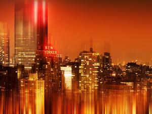Urban Stretch Series, Fine Art, Newyorker, Manhattan by Night, New York, United States by Philippe Hugonnard
