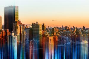 Urban Stretch Series - Manhattan at Sunset - New Yorker Hotel - New York by Philippe Hugonnard