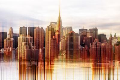 Urban Stretch Series - Manhattan Skyscrapers with the Chrysler Building - New York by Philippe Hugonnard