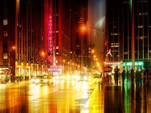 Urban Stretch Series - The Radio City Music Hall by Night - Manhattan - New York by Philippe Hugonnard