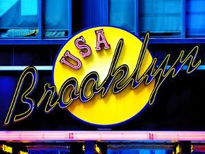 USA Brooklyn Sign, Manhattan, New York, United States by Philippe Hugonnard