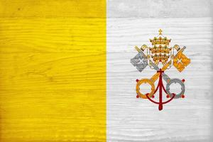 Vatican City Flag Design with Wood Patterning - Flags of the World Series by Philippe Hugonnard