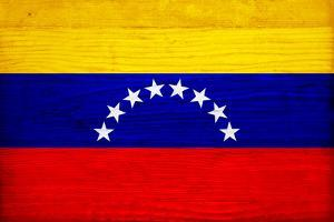 Venezuela Flag Design with Wood Patterning - Flags of the World Series by Philippe Hugonnard
