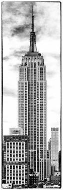 Vertical Panoramic, Black and White Photography, Empire State Building, Manhattan, New York -Us by Philippe Hugonnard