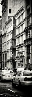 Vertical Panoramic - Door Posters - NYC Yellow Taxis / Cabs on Broadway Avenue in Manhattan by Philippe Hugonnard