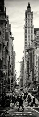 Vertical Panoramic - Door Posters - Urban Street Scene in Broadway at Sunset - Manhattan by Philippe Hugonnard
