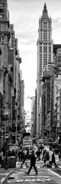 Vertical Panoramic - Door Posters - Urban Street Scene in Broadway at Sunset - Manhattan by Philippe Hugonnard