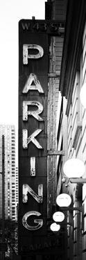 Vertical Panoramic, Garage Parking Sign, W 43St, Times Square, Manhattan, New York by Philippe Hugonnard