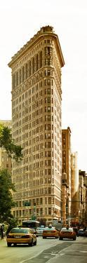 Vertical Panoramic of Flatiron Building and 5th Ave, Manhattan, Sunset, New York City, US by Philippe Hugonnard