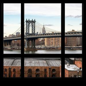 View from the Window - Empire State Building and Manhattan Bridge by Philippe Hugonnard