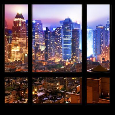 View from the Window - Hell's Kitchen Night - Manhattan