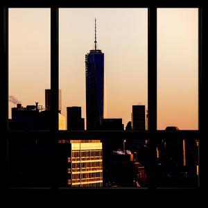 View from the Window - Manhattan Buildings at Sunset by Philippe Hugonnard
