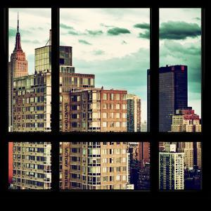 View from the Window - Manhattan Buildings by Philippe Hugonnard