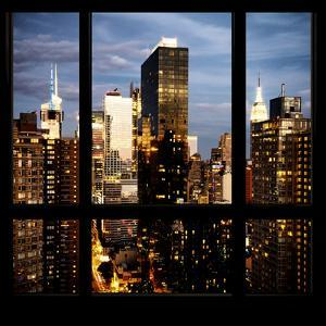 View from the Window - Manhattan Night by Philippe Hugonnard