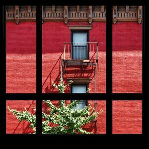 View from the Window - New York Red Facade by Philippe Hugonnard