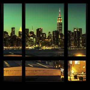 View from the Window - Night Skyline - New York City by Philippe Hugonnard