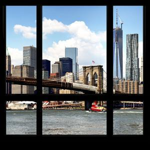 View from the Window - NYC Skyline and Brooklyn Bridge by Philippe Hugonnard