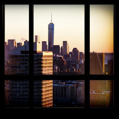 View from the Window - One World Trade Center at Sunset by Philippe Hugonnard
