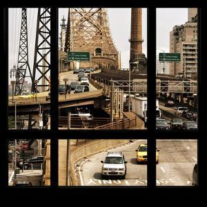 View from the Window - Queensboro Bridge Traffic by Philippe Hugonnard