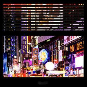 View from the Window - Times Square Night by Philippe Hugonnard
