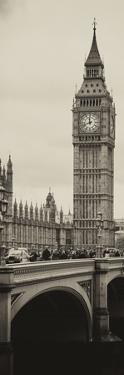 View of Big Ben from across the Westminster Bridge - London - England - UK - Door Poster by Philippe Hugonnard