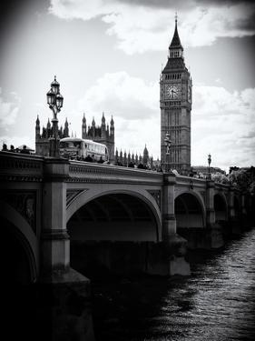View of Big Ben from across the Westminster Bridge - Thames River - City of London - UK - England by Philippe Hugonnard