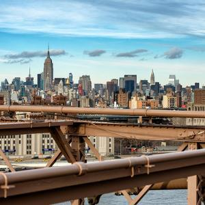 View of Brooklyn Bridge with the Empire State Buildings by Philippe Hugonnard