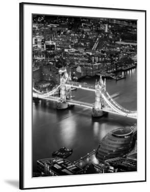 View of City of London with the Tower Bridge at Night - London - UK - England - United Kingdom by Philippe Hugonnard