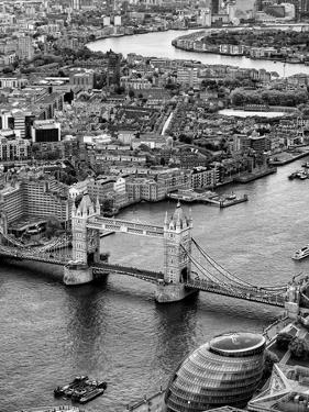 View of City of London with Tower Bridge - London - UK - England - United Kingdom - Europe by Philippe Hugonnard