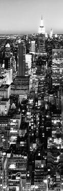 View of City, Vertical Panoramic Landscape View by Night, Midtown Manhattan, Manhattan, NYC, USA by Philippe Hugonnard