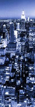 View of City, Vertical Panoramic Landscape View by Night, Midtown Manhattan, Manhattan, NYC by Philippe Hugonnard