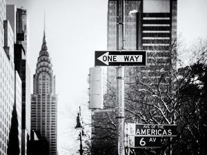 View of The Chrysler Building and Avenue of the Americas Sign - Manhattan - New York by Philippe Hugonnard