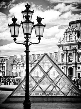View of the Pyramid and the Louvre Museum Building, Paris, France, Europe by Philippe Hugonnard
