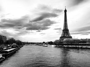 View of the River Seine and the Eiffel Tower - Paris - France - Europe by Philippe Hugonnard