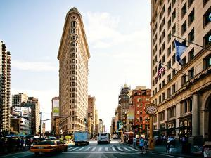 Vintage Colors Landscape of Flatiron Building and 5th Ave, Manhattan, New York City, United States by Philippe Hugonnard