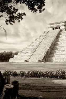 ¡Viva Mexico! B&W Collection - Chichen Itza Pyramid III by Philippe Hugonnard