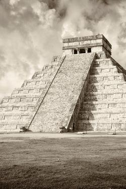 ¡Viva Mexico! B&W Collection - Chichen Itza Pyramid VIII by Philippe Hugonnard