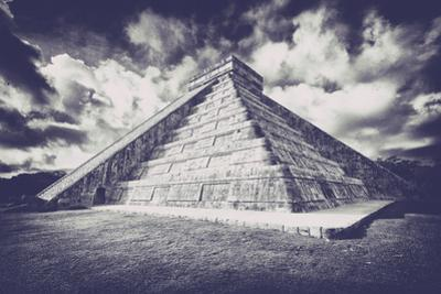 ¡Viva Mexico! B&W Collection - Chichen Itza Pyramid XVII by Philippe Hugonnard