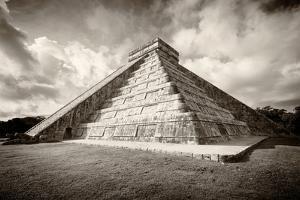 ¡Viva Mexico! B&W Collection - Chichen Itza Pyramid XVIII by Philippe Hugonnard