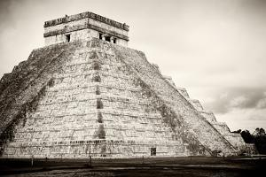 ¡Viva Mexico! B&W Collection - Chichen Itza Pyramid XXI by Philippe Hugonnard