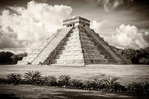 ¡Viva Mexico! B&W Collection - El Castillo Pyramid in Chichen Itza II by Philippe Hugonnard