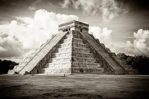 ¡Viva Mexico! B&W Collection - El Castillo Pyramid in Chichen Itza by Philippe Hugonnard