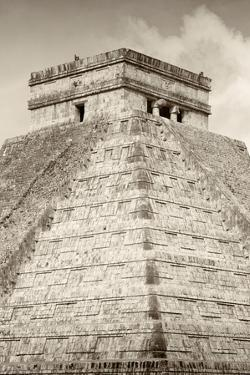 ¡Viva Mexico! B&W Collection - Pyramid Chichen Itza III by Philippe Hugonnard