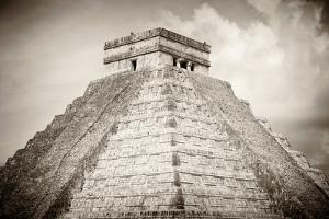 ¡Viva Mexico! B&W Collection - Pyramid Chichen Itza by Philippe Hugonnard